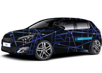 Habillage voiture Taxi Bleus - Maquette